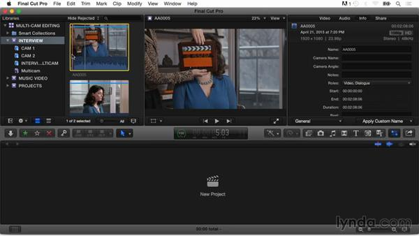 Adding markers to clips for syncing: Final Cut Pro X Guru: Multicamera Video Editing