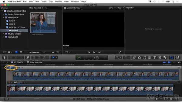 Exploring the Angle Viewer: Final Cut Pro X Guru: Multicamera Video Editing