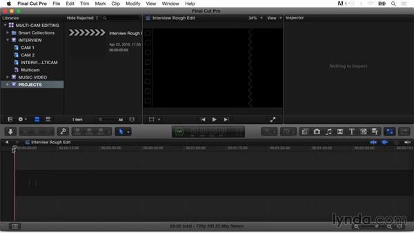 Creating a multicam target project: Final Cut Pro X Guru: Multicamera Video Editing