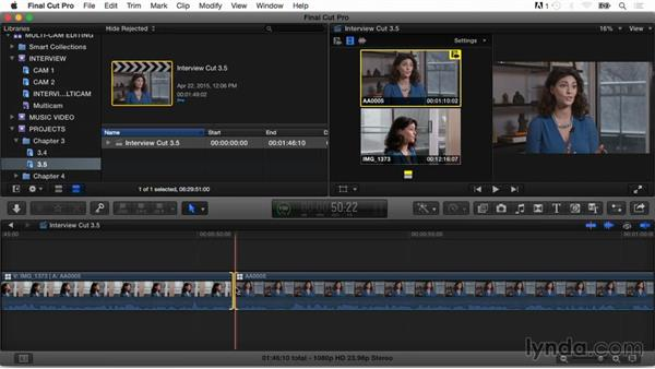 Switching angles and fine-tuning the edit: Final Cut Pro X Guru: Multicamera Video Editing