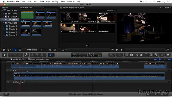 Modifying and adding clips in the Angle Editor: Final Cut Pro X Guru: Multicamera Video Editing