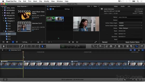 Advanced trimming techniques: Final Cut Pro X Guru: Multicamera Video Editing