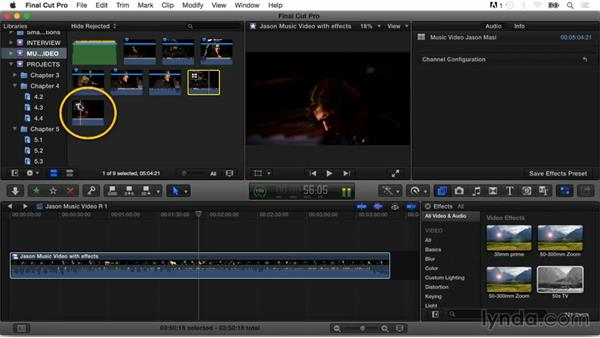 Creating compound clips: Final Cut Pro X Guru: Multicamera Video Editing