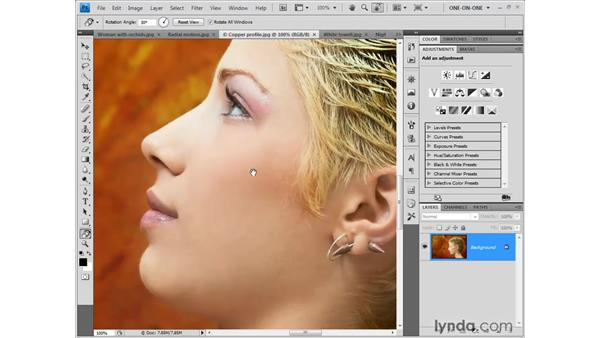 The new Rotate View tool: Photoshop CS4 One-on-One: Fundamentals