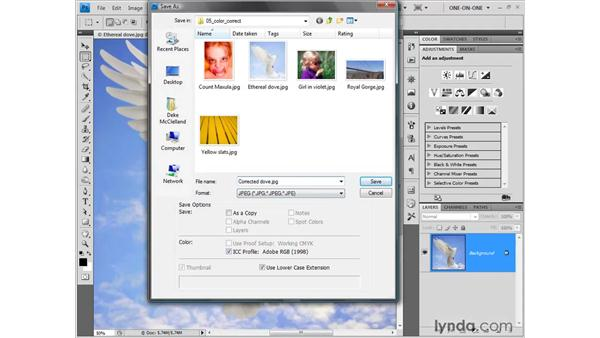Introducing adjustment layers: Photoshop CS4 One-on-One: Fundamentals