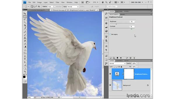 Editing and saving adjustment layers: Photoshop CS4 One-on-One: Fundamentals