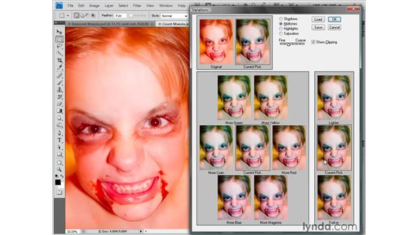Correcting the color cast: Photoshop CS4 One-on-One: Fundamentals