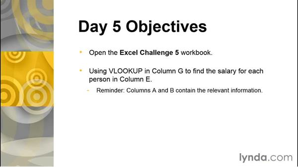Challenge: Match data across different lists using VLOOKUP: The 5-Day Excel Challenge