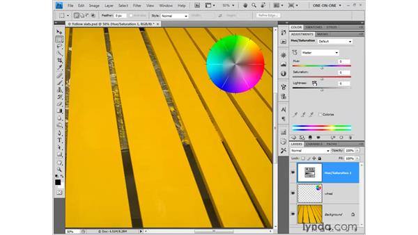 Hue and saturation: Photoshop CS4 One-on-One: Fundamentals