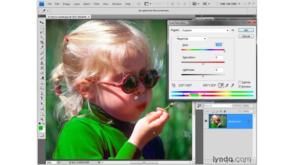 Refining your color range: Photoshop CS4 One-on-One: Fundamentals