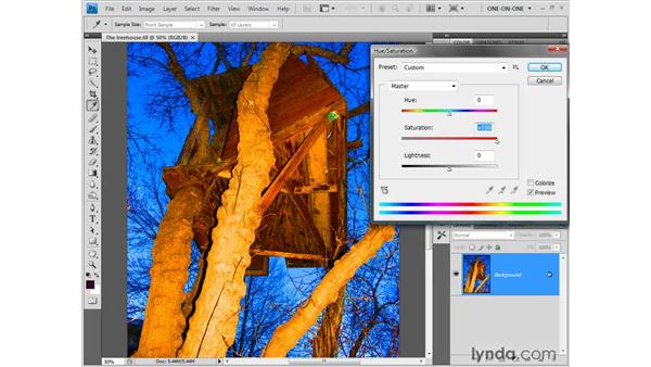 Enhancing a low-saturation image: Photoshop CS4 One-on-One: Fundamentals