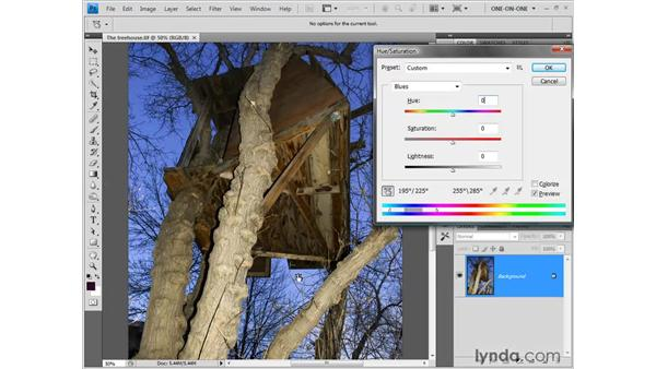 The new Target Adjustment tool: Photoshop CS4 One-on-One: Fundamentals