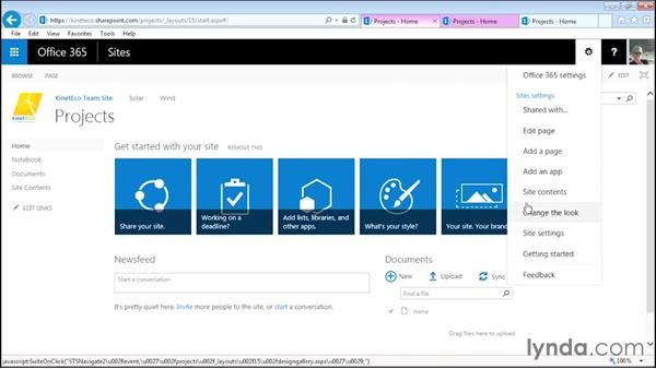 Editing top navigation: Managing Projects with SharePoint 2013