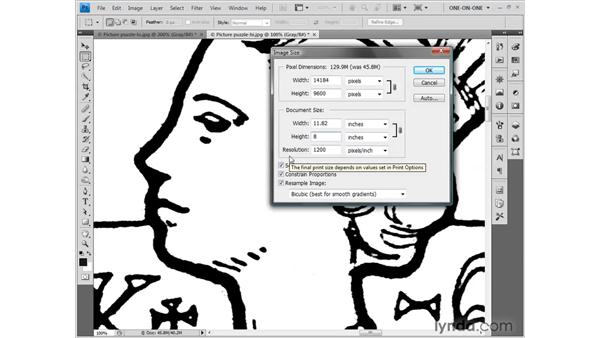 Changing the print resolution: Photoshop CS4 One-on-One: Fundamentals