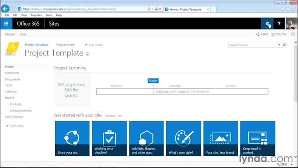 Adding a links app: Managing Projects with SharePoint 2013