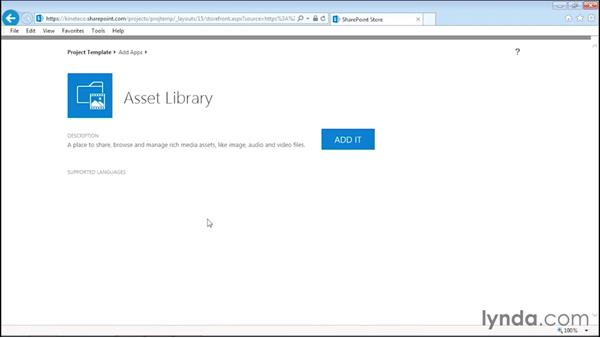 Using picture, report, and asset libraries: Managing Projects with SharePoint 2013
