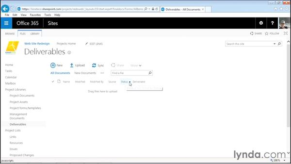 Viewing the libraries: Managing Projects with SharePoint 2013