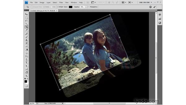 Using the Crop tool: Photoshop CS4 One-on-One: Fundamentals