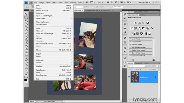 Auto Crop & Straighten: Photoshop CS4 One-on-One: Fundamentals