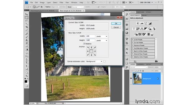 "Precisely cropping the ""wedges"": Photoshop CS4 One-on-One: Fundamentals"