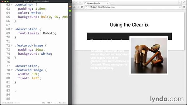 Using the clearfix: Making Sense of the CSS Box Model