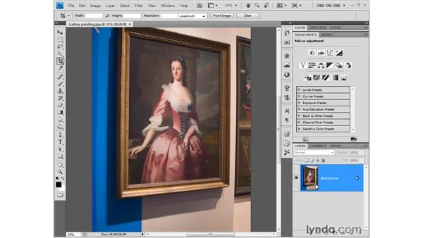 Perspective cropping: Photoshop CS4 One-on-One: Fundamentals