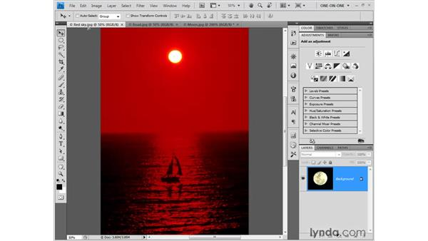 Dragging and dropping a selection: Photoshop CS4 One-on-One: Fundamentals