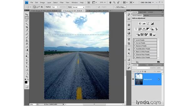 Creating a graduated selection: Photoshop CS4 One-on-One: Fundamentals