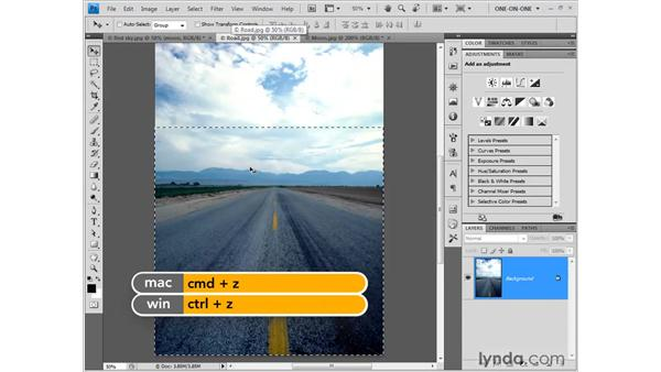 Aligning one image to another: Photoshop CS4 One-on-One: Fundamentals