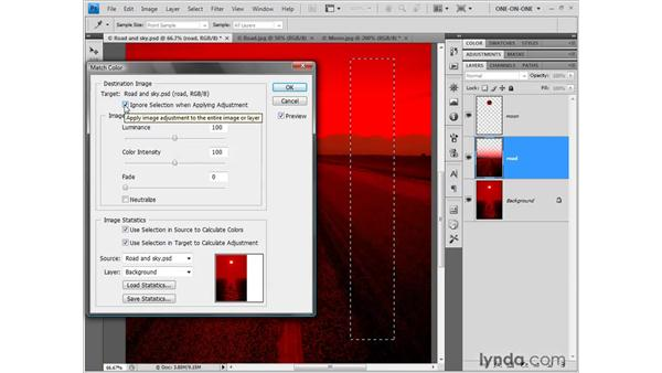 Matching colors with more control: Photoshop CS4 One-on-One: Fundamentals