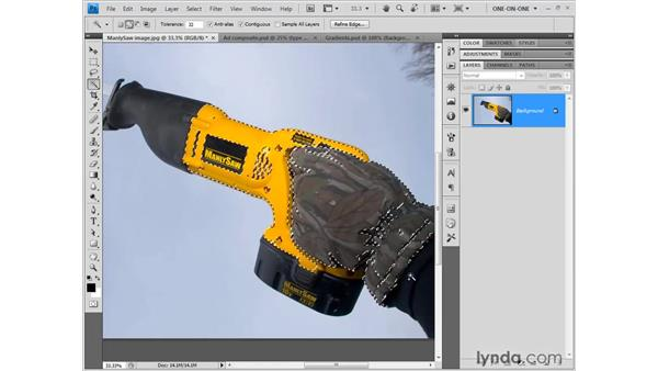 The Magic Wand tool: Photoshop CS4 One-on-One: Fundamentals