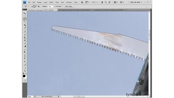 The Polygonal Lasso tool: Photoshop CS4 One-on-One: Fundamentals