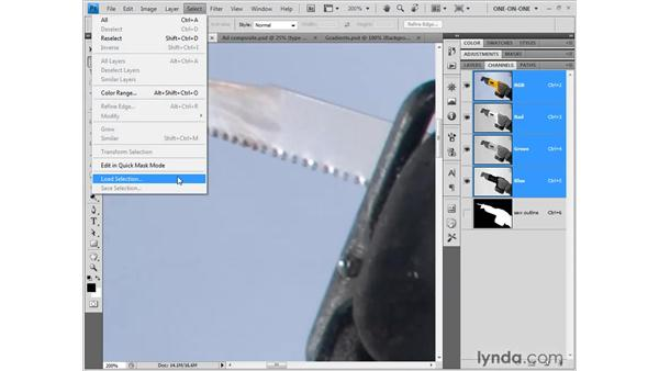 Saving a selection: Photoshop CS4 One-on-One: Fundamentals