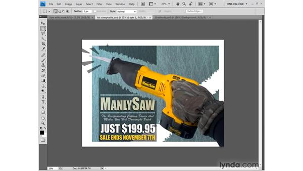 Accessing the Move tool on the fly: Photoshop CS4 One-on-One: Fundamentals