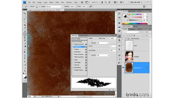 Brush shape, jitter, and other dynamics: Photoshop CS4 One-on-One: Fundamentals