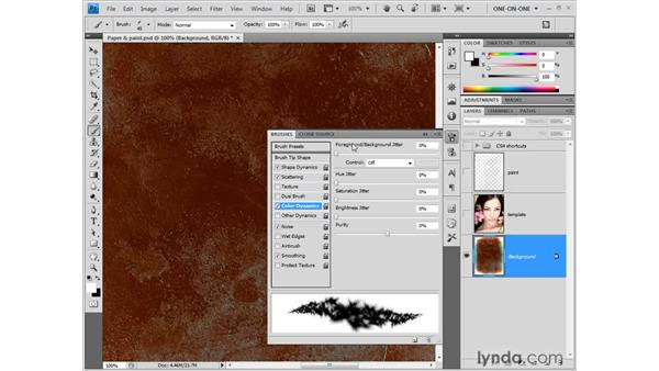 Miscellaneous Brush palette settings: Photoshop CS4 One-on-One: Fundamentals