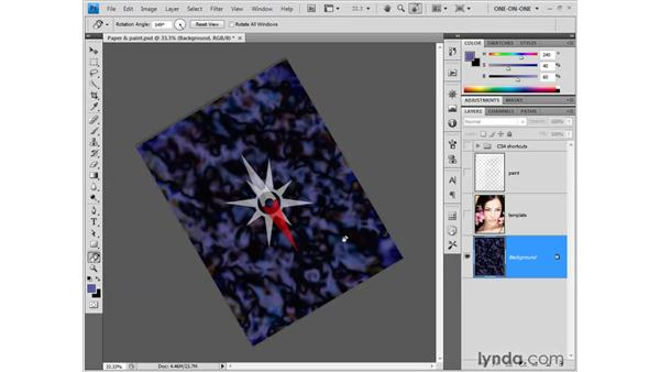 Painting with the help of the Rotate view: Photoshop CS4 One-on-One: Fundamentals