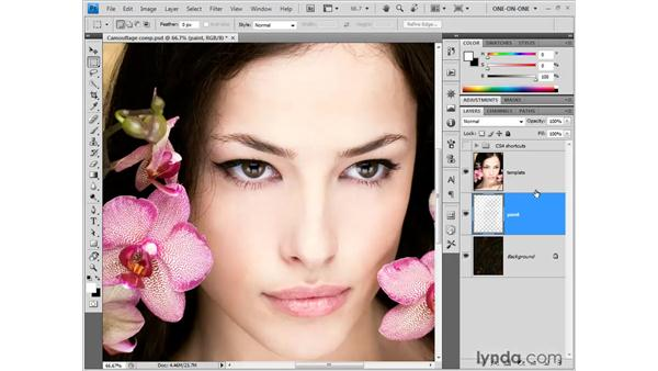 Painting with imagery: Photoshop CS4 One-on-One: Fundamentals
