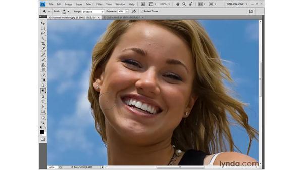 Dodging (brightening) shadow detail: Photoshop CS4 One-on-One: Fundamentals