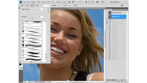 Erasing with the History brush: Photoshop CS4 One-on-One: Fundamentals