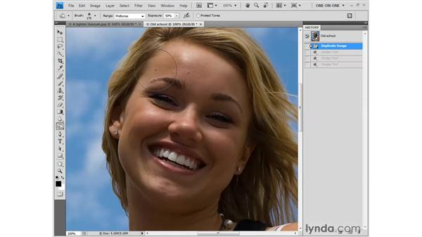 The new and improved Burn tool: Photoshop CS4 One-on-One: Fundamentals