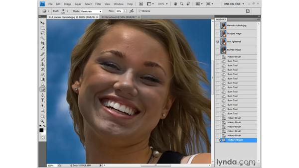 Balancing saturation with the Sponge tool: Photoshop CS4 One-on-One: Fundamentals