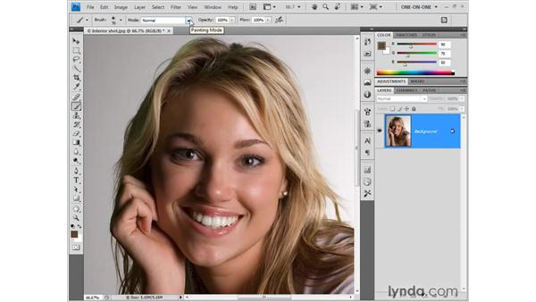 Recoloring inaccurate hues: Photoshop CS4 One-on-One: Fundamentals