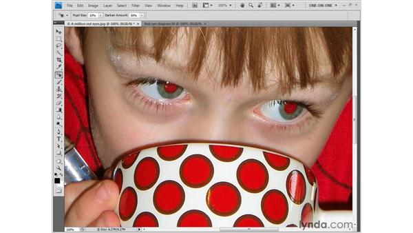 Using the Red Eye tool: Photoshop CS4 One-on-One: Fundamentals