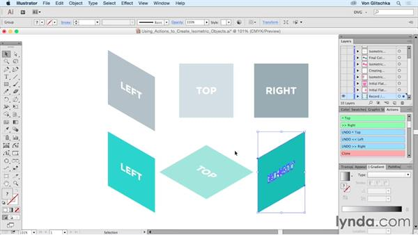 Using actions to create isometric objects: Drawing Vector Graphics: Isometric Illustration