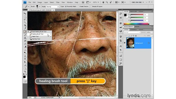 Meet the Healing brush tools: Photoshop CS4 One-on-One: Fundamentals