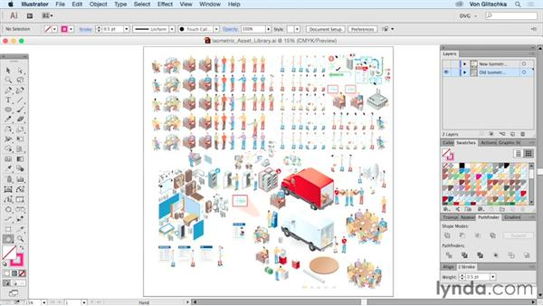 Isometric asset library: Drawing Vector Graphics: Isometric Illustration