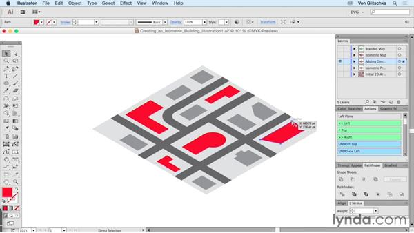 Creating an isometric building illustration: Part 1: Drawing Vector Graphics: Isometric Illustration