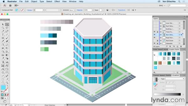Creating An Isometric Building Illustration Part 2