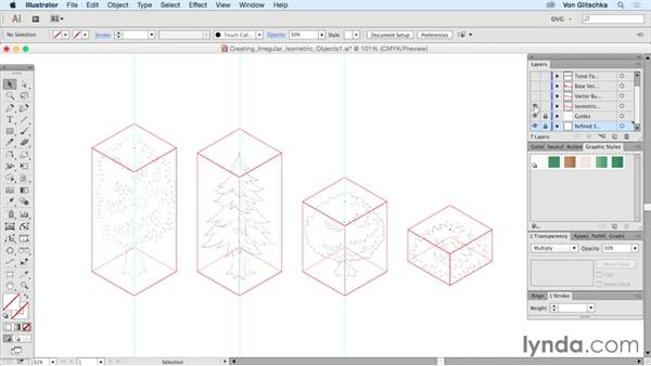 Creating irregular and organic isometric objects: Part 1: Drawing Vector Graphics: Isometric Illustration